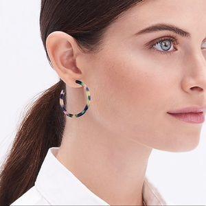 J. Crew tortoiseshell hoop earrings